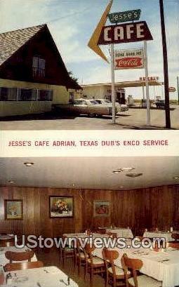 Jesse's Caf» Adrian - Texas TX Postcard