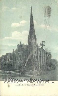 5th St ME Church - Waco, Texas TX Postcard