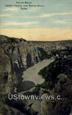 Castle Canyon - Devils River, Texas TX Postcard
