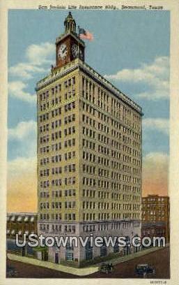 San Jacinto Life Insurance Bldg - Beaumont, Texas TX Postcard