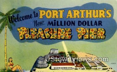 Pleasure Pier Ballroom - Port Arthur, Texas TX Postcard