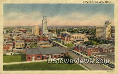 Abilene, TX     ;     Abilene, Texas Postcard