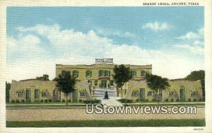 Grande Lodge - Abilene, Texas TX Postcard
