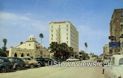 Downtown Levee Street - Brownsville, Texas TX Postcard