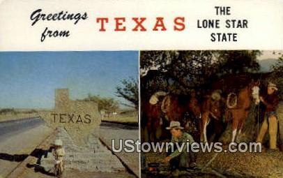 Texas Entrance Marker - Misc Postcard