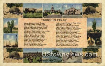 Misc, Texas      ;     Misc, TX Postcard