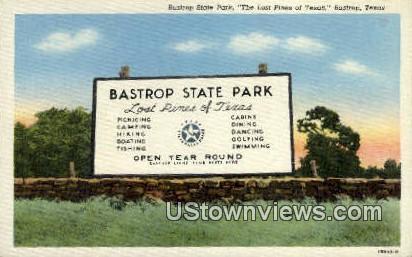 Bastrop State Park - Texas TX Postcard