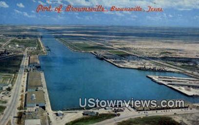 Port of Brownsville - Texas TX Postcard