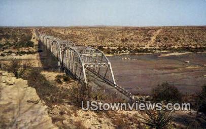 Devils River Bridge - Del Rio, Texas TX Postcard