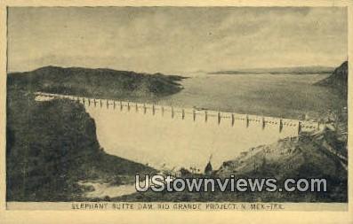 Elephant Butte Dam - Rio Grande, Texas TX Postcard