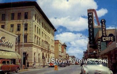 Downtown Elizabeth Street - Brownsville, Texas TX Postcard