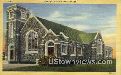 Episcopal Church - Paris, Texas TX Postcard