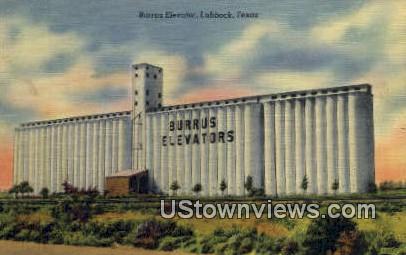 Burrus Elevator - Lubbock, Texas TX Postcard