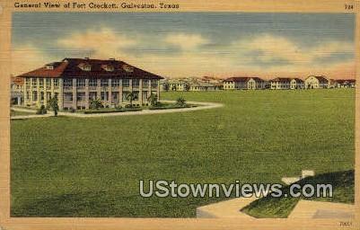 Fort Crockett - Galveston, Texas TX Postcard