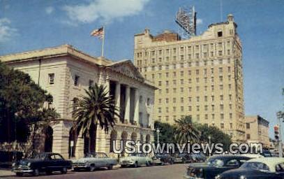 Federal Bldg & Hamilton Hotel - Laredo, Texas TX Postcard