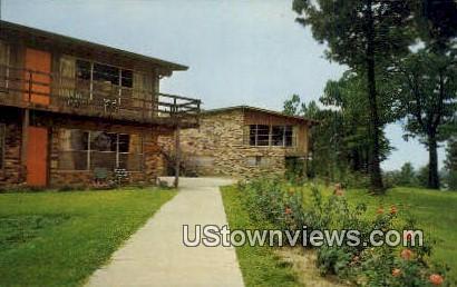 Tejas Village Lodge - Misc, Texas TX Postcard