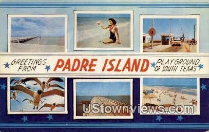 Padre Island - Corpus Christi, Texas TX Postcard