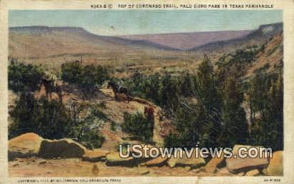 Coronado Trail - Palo Duro Park, Texas TX Postcard