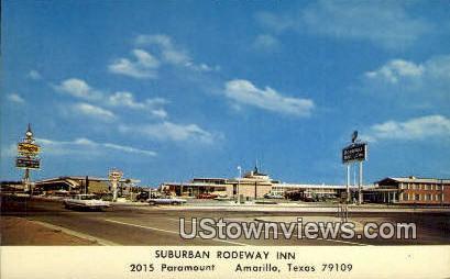 Suburban Rodeway Inn - Amarillo, Texas TX Postcard