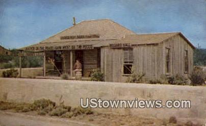 Judge Roy Bean Museum - Langtry, Texas TX Postcard