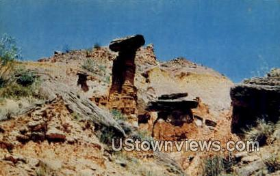 Toadstool Rock - Amarillo, Texas TX Postcard