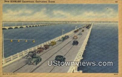 New 2,000,000 Causeway - Galveston, Texas TX Postcard