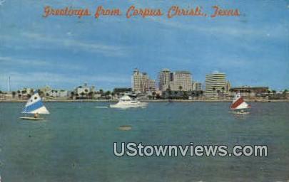 Sunfish Sailboats - Corpus Christi Bay, Texas TX Postcard