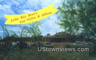 Judge Roy Bean's Law Office - Langtry, Texas TX Postcard