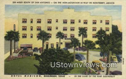 Hotel Madison - Harlingen, Texas TX Postcard