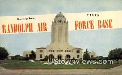 Randolph Air Force Base, TX     ;     Randolph Air Force Base, Texas Postcard