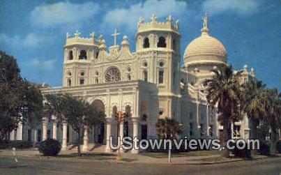 Sacred Heart Church - Galveston, Texas TX Postcard