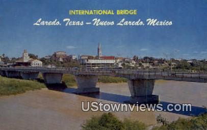 International Bridge - Laredo, Texas TX Postcard