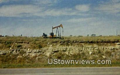 Oil - Flint Hills, Texas TX Postcard