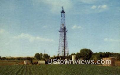 Broom Corn & Oil Derrick - Misc, Texas TX Postcard