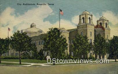 City Auditorium - Amarillo, Texas TX Postcard