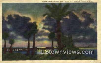 Corpus Christi Bay - Texas TX Postcard