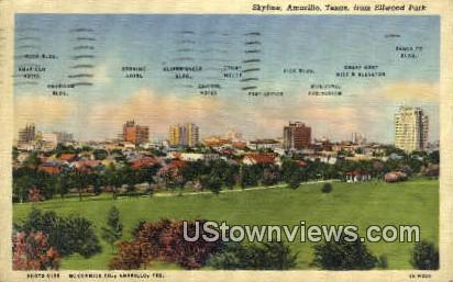Ellwood Park - Amarillo, Texas TX Postcard