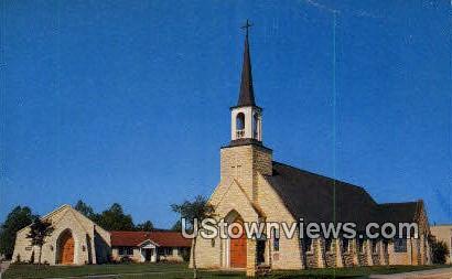 Holy Cross Lutheran Church - Kerrville, Texas TX Postcard