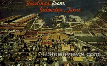 Greetings from Texas - Galveston Postcard