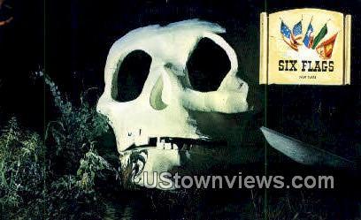 Finning Skull, Six Flags - Misc, Texas TX Postcard