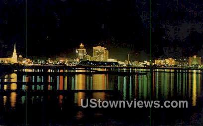Christmas Lights - Corpus Christi, Texas TX Postcard