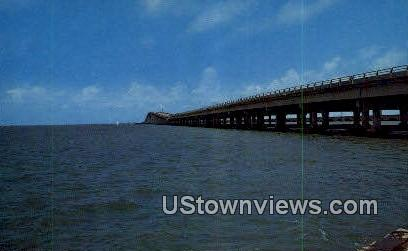 New Galveston Causeway - Texas TX Postcard