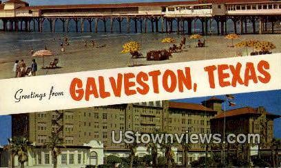 Galveston, TX     ;     Galveston, Texas Postcard