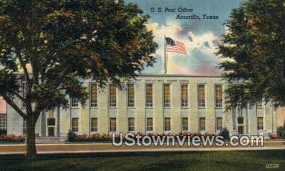 US Post Office - Amarillo, Texas TX Postcard