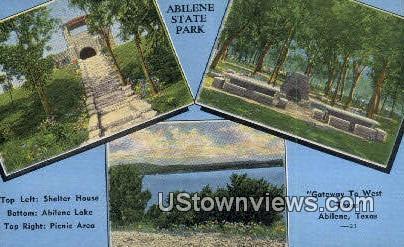 Shelter House - Abilene, Texas TX Postcard