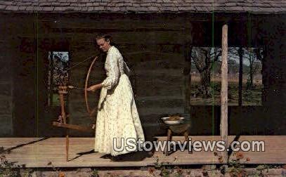 Wool Spinning - Old Fredericksburg, Texas TX Postcard
