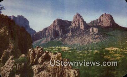 Chisos Mountains - Big Bend National Park, Texas TX Postcard