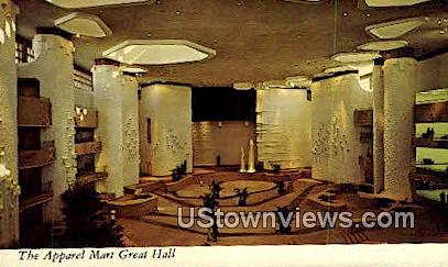 Apparel Mart Great Hall - Misc, Texas TX Postcard
