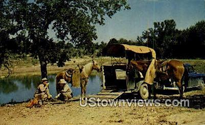 Noonday Camp, Texas      ;     Noonday Camp, TX Postcard
