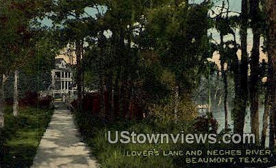 Lover's Lane - Beaumont, Texas TX Postcard